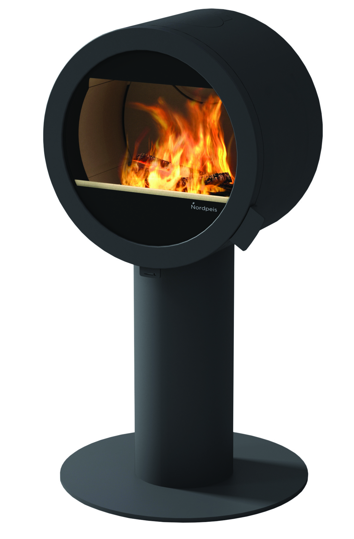 ME Stove without Glass Side Windows on Pedestal: NP-ME-PEDESTAL